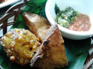 tofu and corn