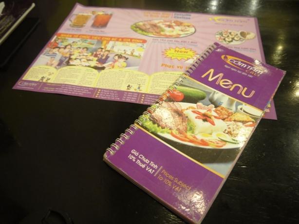 menu Cali